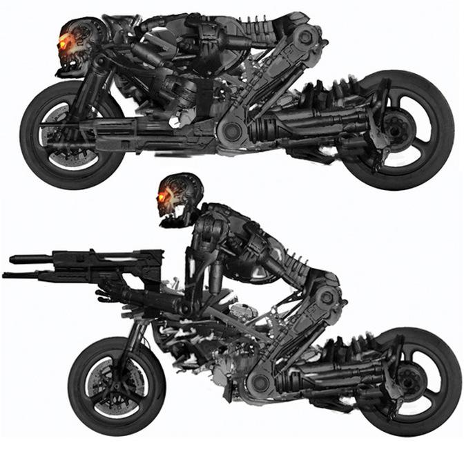 Terminator Salvation. las motos mutantes.