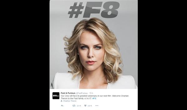 Charlize Theron será la mala de 'A todo gas 8'.