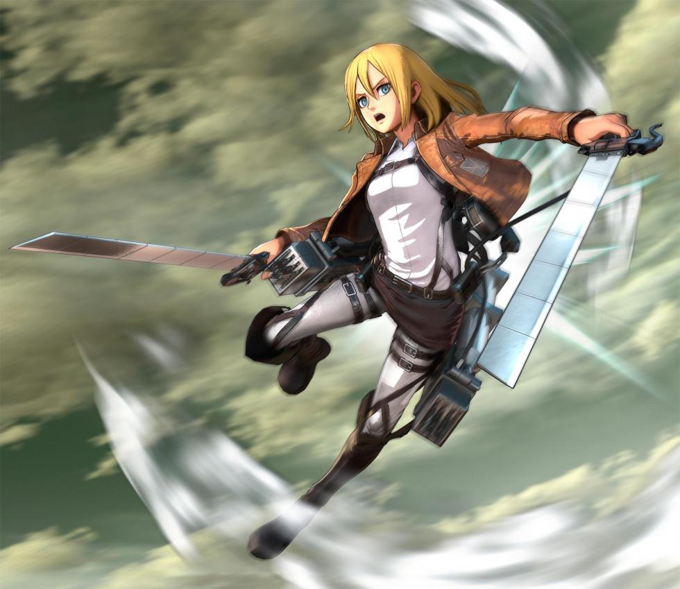 Christa Lenz en Attack on Titan Wings of Freedom