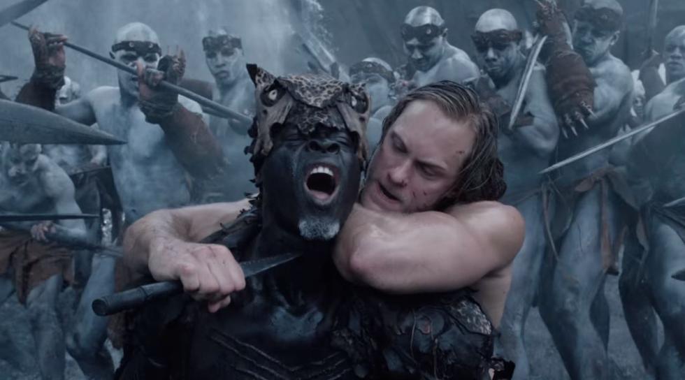 Djimon Hounsou y  Alexander Skarsgård en La leyenda de Tarzán