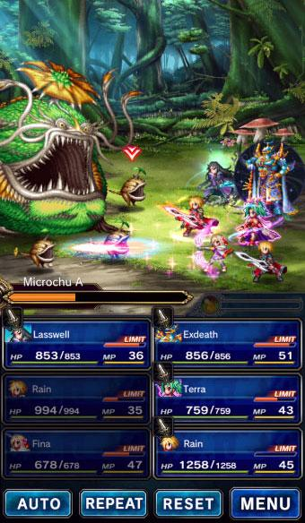 Final Fantasy Brave Exvius gameplay