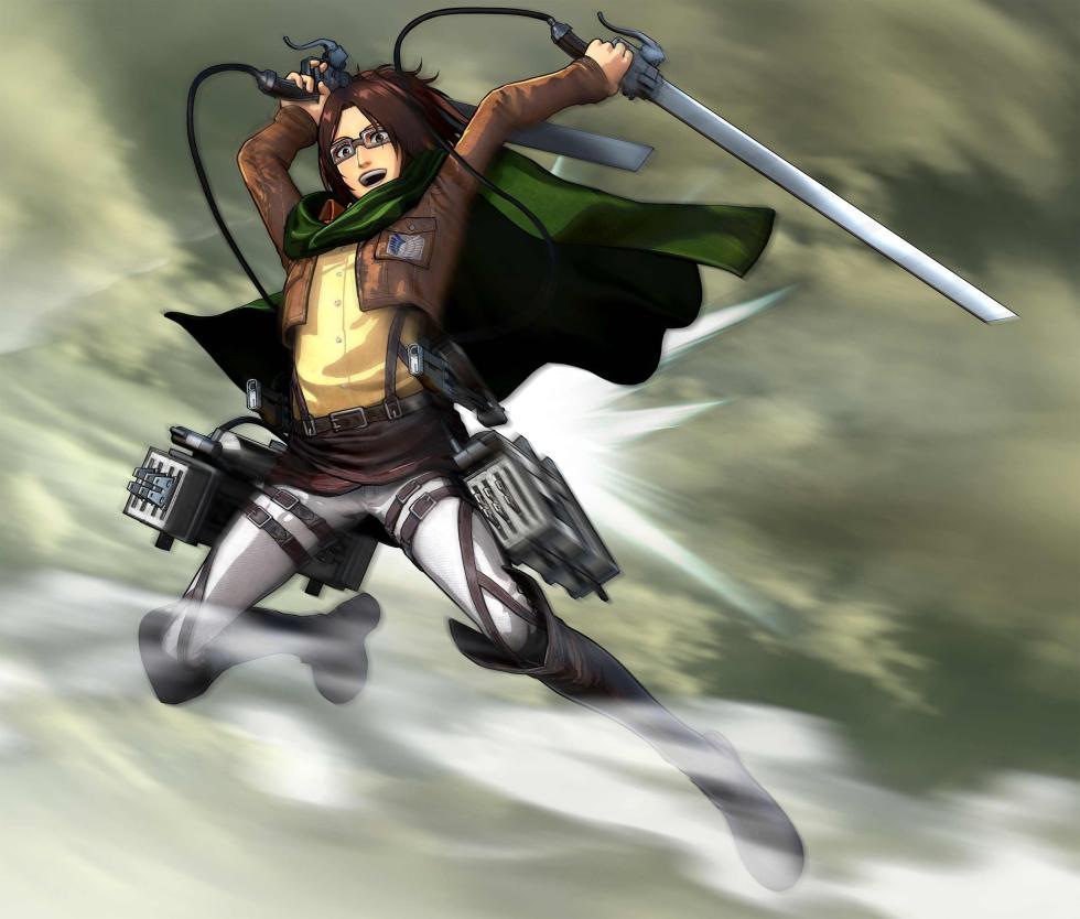 Hange en Attack on Titan Wings of Freedom