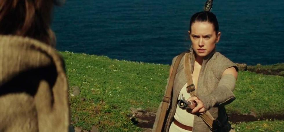 Escena final Star Wars VII Rey