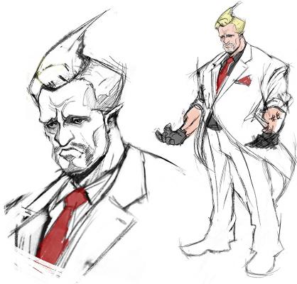 Street Fighter V - Personajes descartados, presidente
