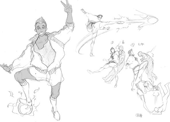 Street Fighter V - Personajes descartados, futbolista