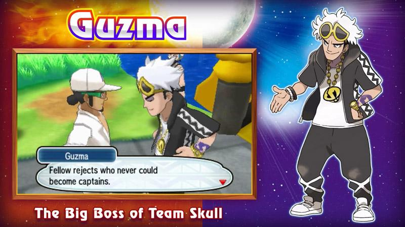 Guzma Pokémon Sol y Luna