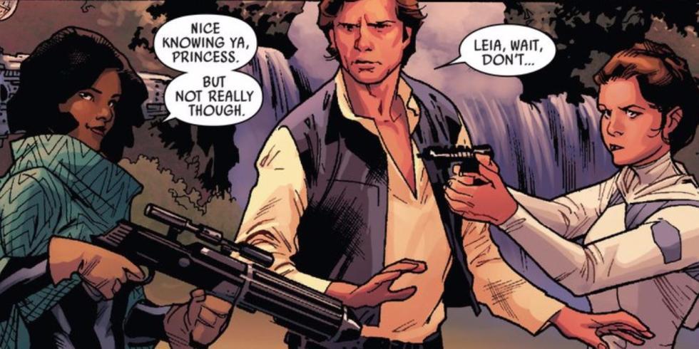 Han Solo y Sana Starros casados en el spin-off