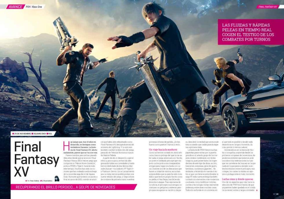 Hobby Consolas 302 Final Fantasy XV