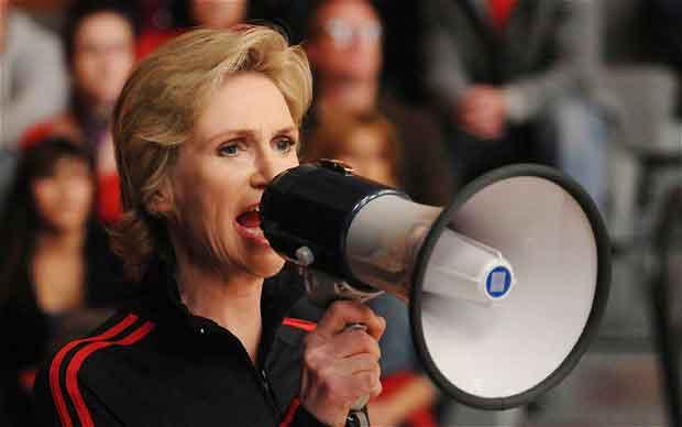 Jane Lynch en Glee (Sue Sylvester)