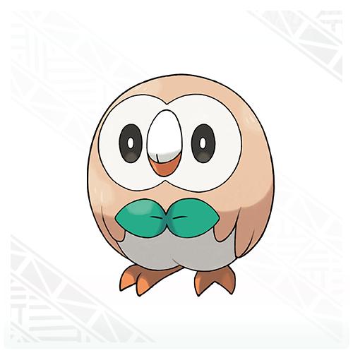 Rowlet Pokémon Sol y Pokémon Luna