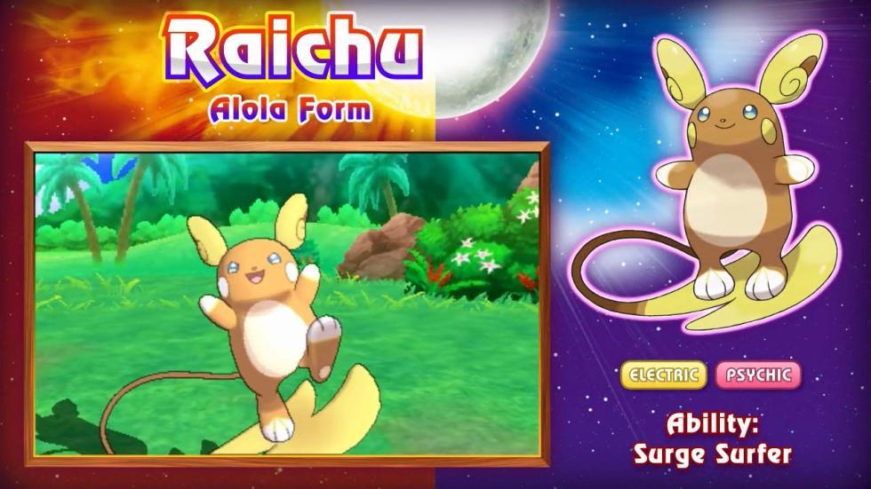 Raichu Pokémon Sol y Luna