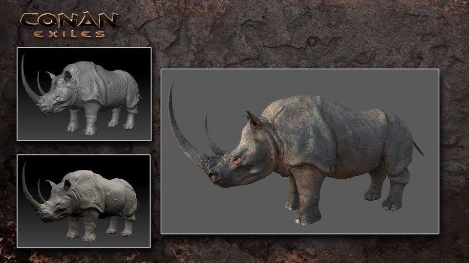 Rinoceronte en Conan Exiles