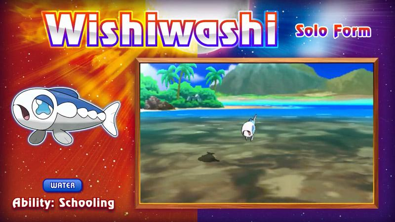 Wishiwashi Pokémon Sol y Luna