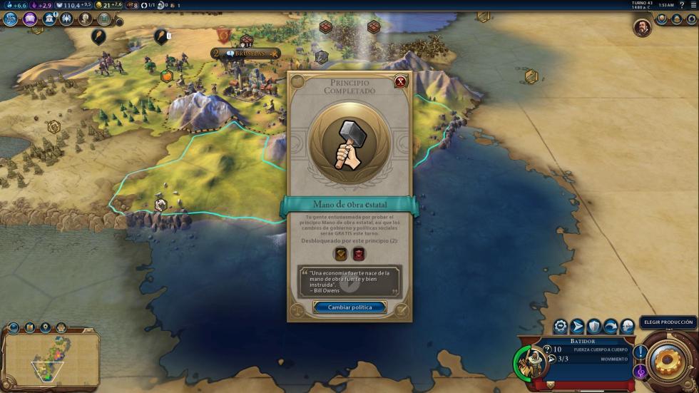 Avance de Civilization VI