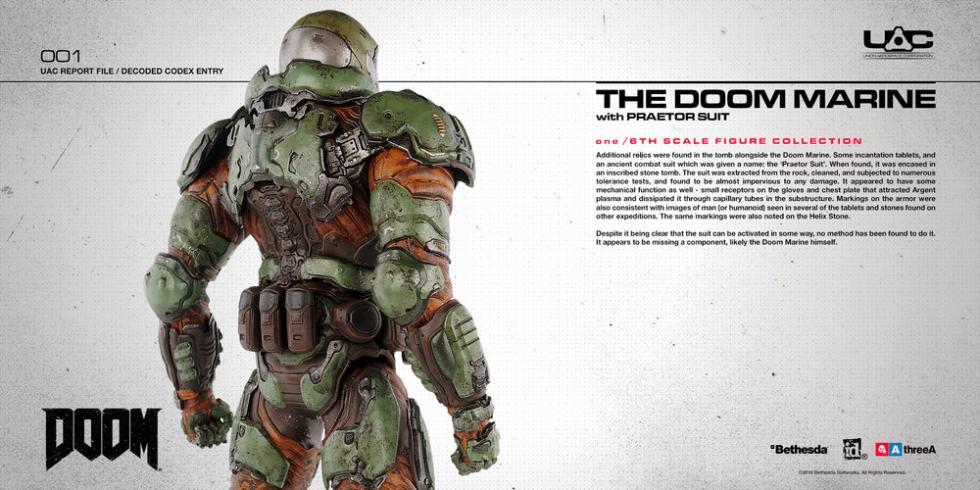 Doom Three A Bethesda figura de acción