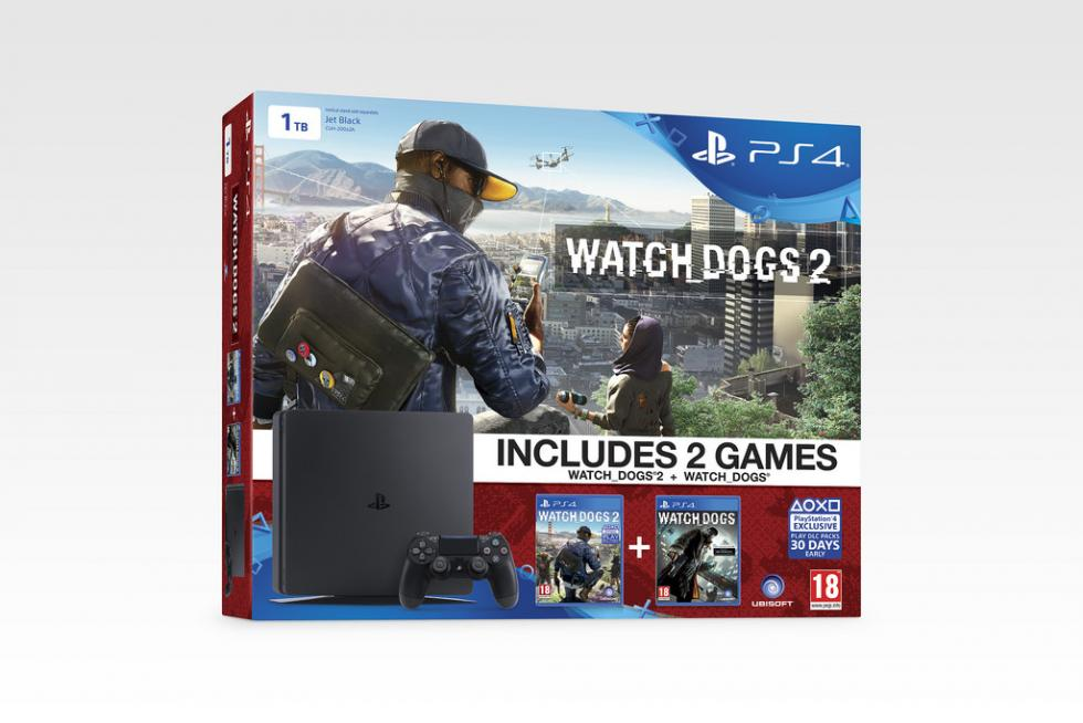 PS4 Slim pack Watch Dogs 2