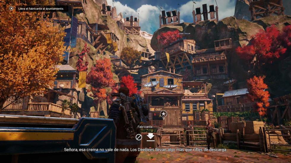 Análisis Gears of War 4 poblado