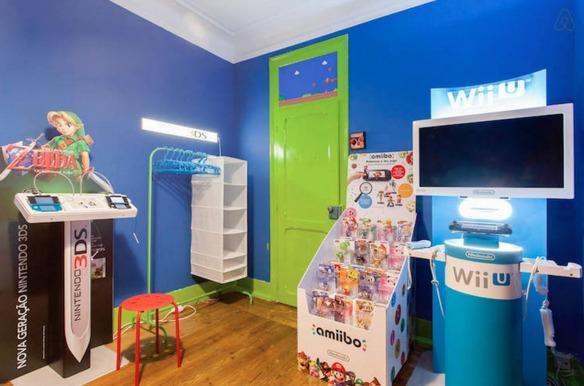 La habitación de alquiler soñada por todo fan de Nintendo