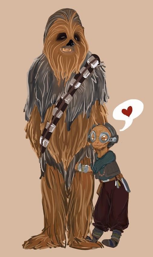 Maz y Chewbacca - Star Wars love story