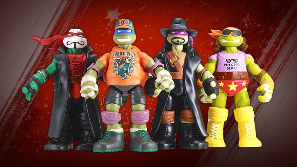 Tortugas Ninja, WWE, figuras acción