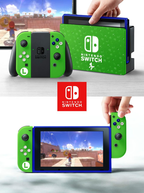 Nintendo Switch con carcasa de Luigi