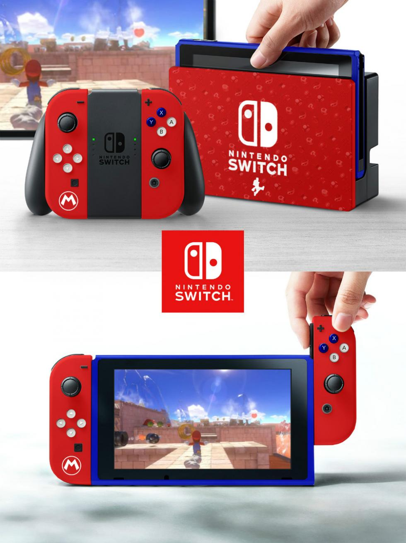 Nintendo Switch con carcasa de Mario