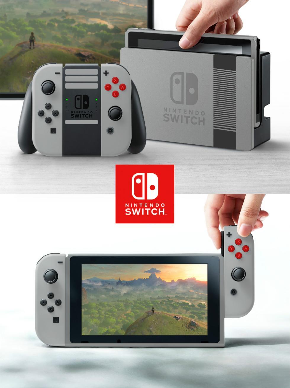 Nintendo Switch con carcasa de NES
