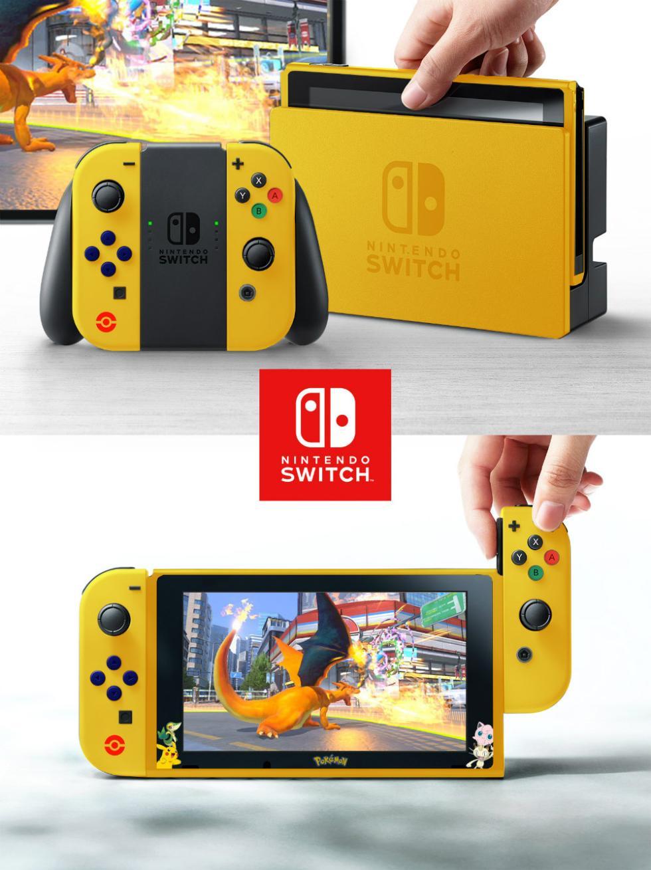 Nintendo Switch con carcasa de Pokémon
