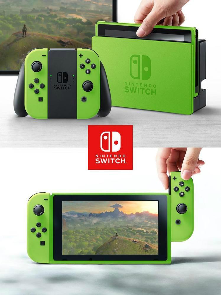 Nintendo Switch con carcasa de verde