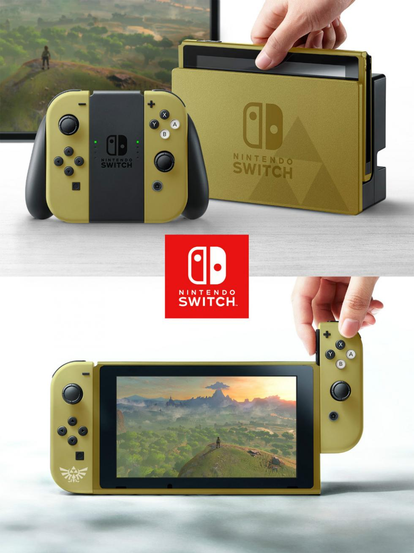 Nintendo Switch con carcasa de Zelda
