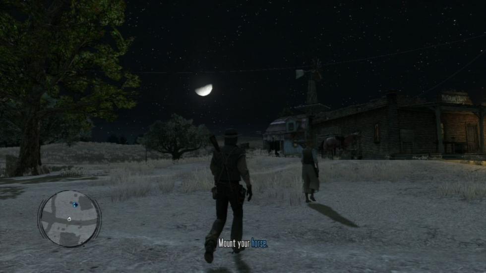 Noche en Red Dead Redemption