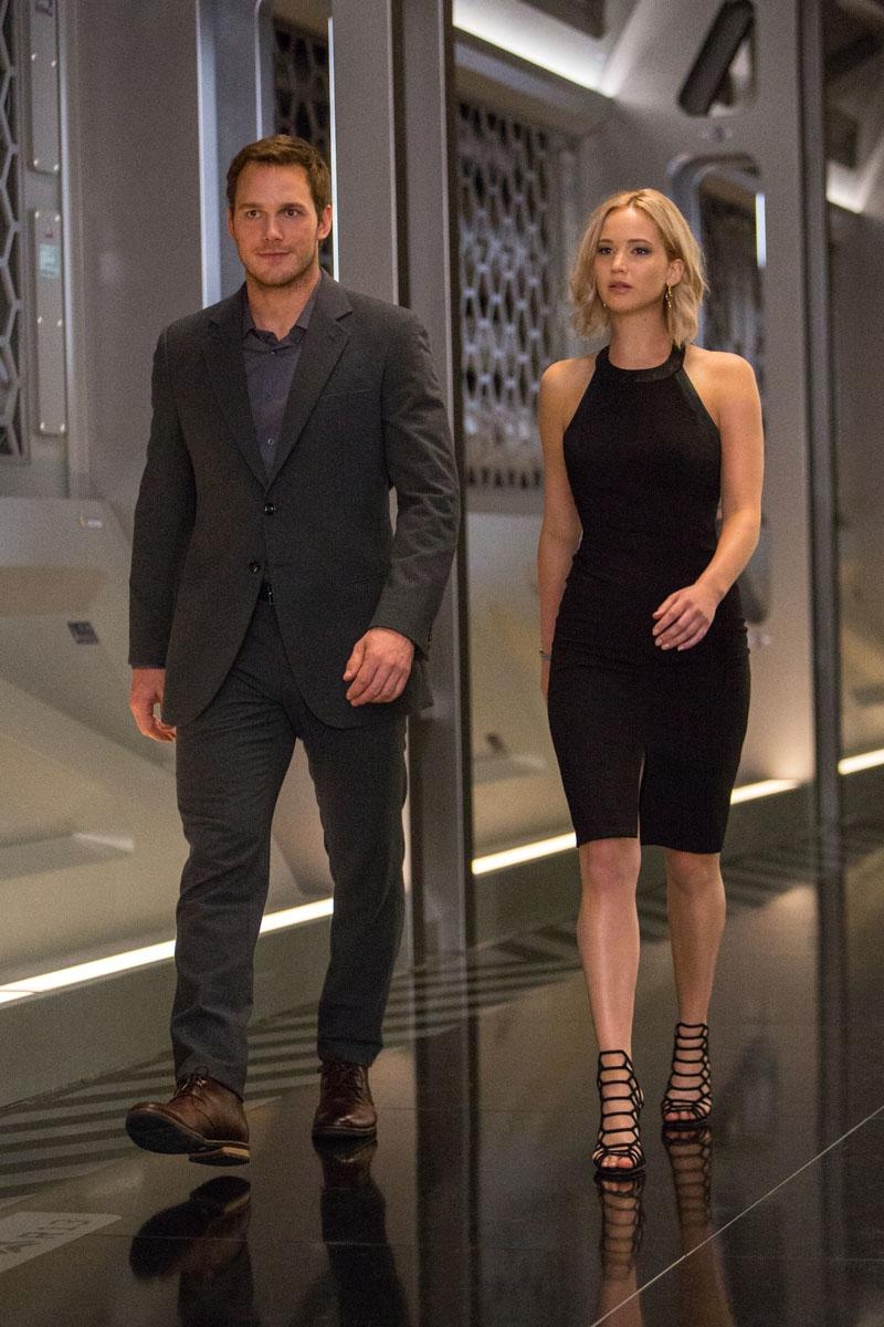 Passengers - nuevas fotos de Chris Pratt y Jennifer Lawrence