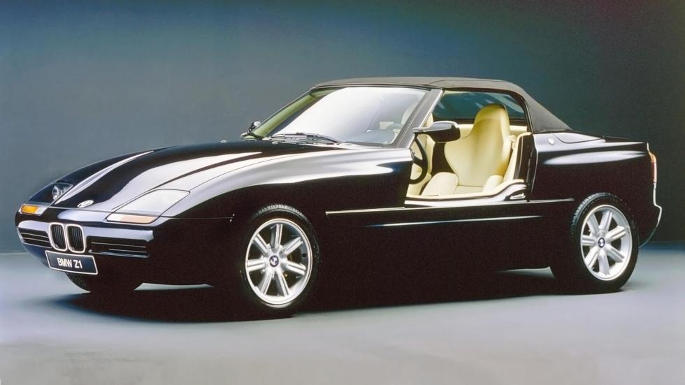 Puertas BMW Z1 negro deportivo lujo clásico