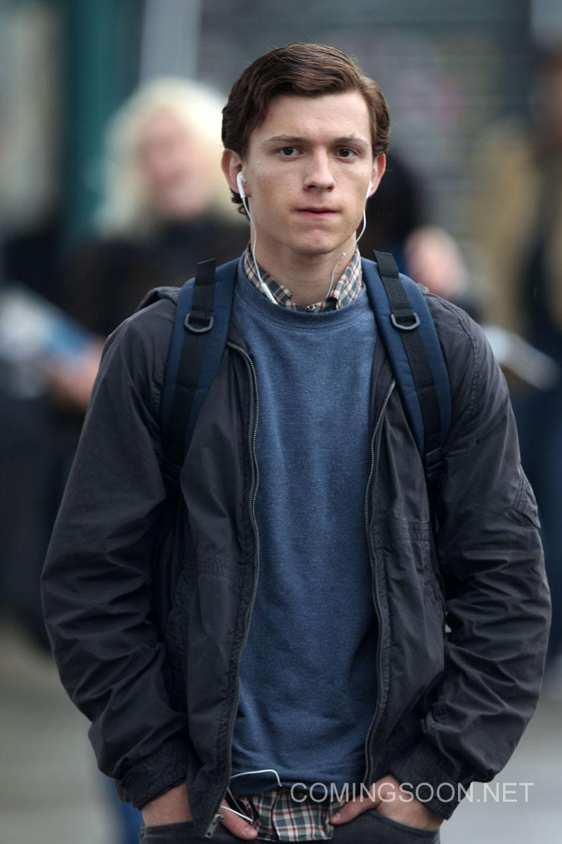 Tom Holland Rodaje