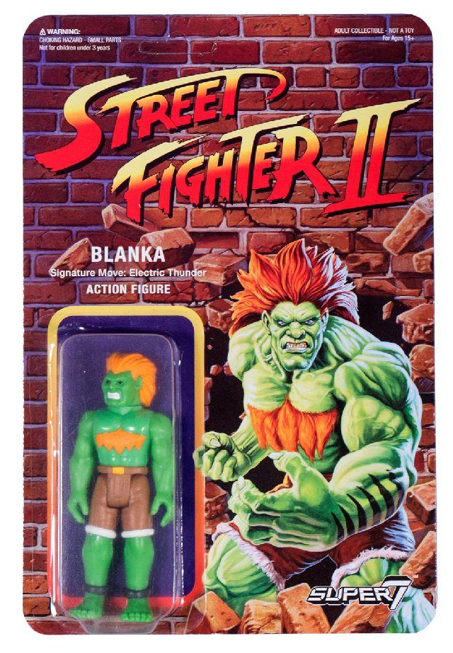 Figuras retro Street Fighter II de Super 7. Blanka