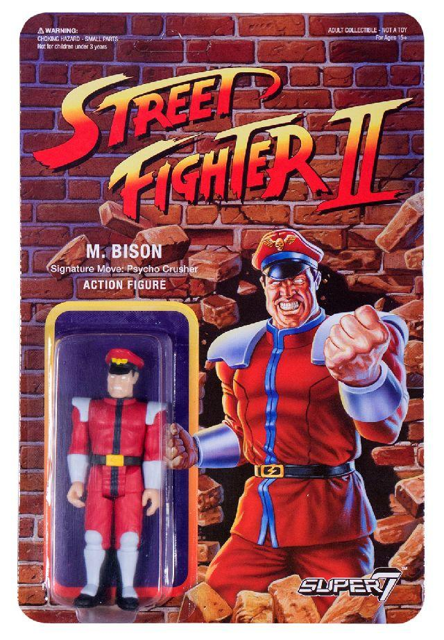 Figuras retro Street Fighter II de Super 7. M Bison