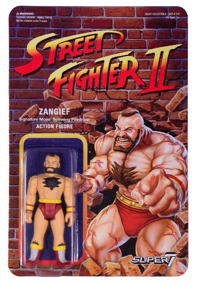 Figuras retro Street Fighter II de Super 7. Zangief