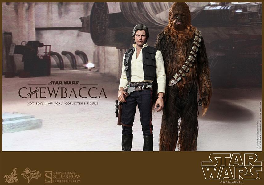 11. y 12. Han Solo y Chewbacca (Star Wars)-MMS261 yMMS262