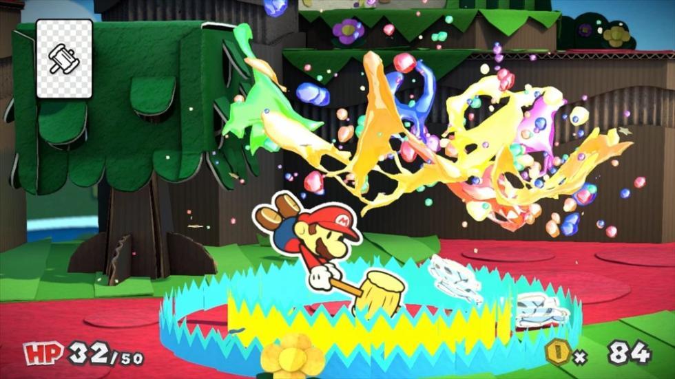 Los mejores juegos de Wii U de 2016 - Paper Mario Color Splash