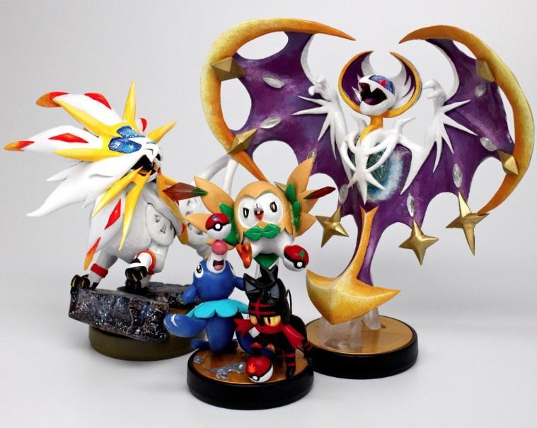 Amiibos de Pokémon Sol y Luna creados por Gandakris