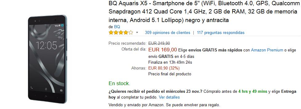 Black Friday Amazon - BQ Aquaris X5