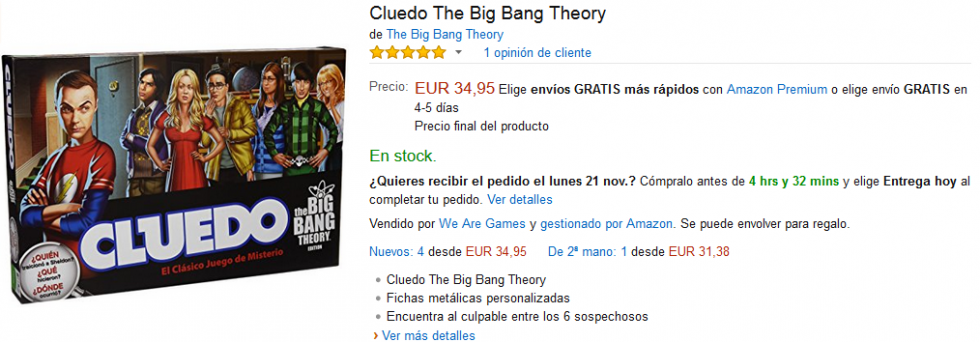 Black Friday Amazon - Cluedo The Big Bang Theory