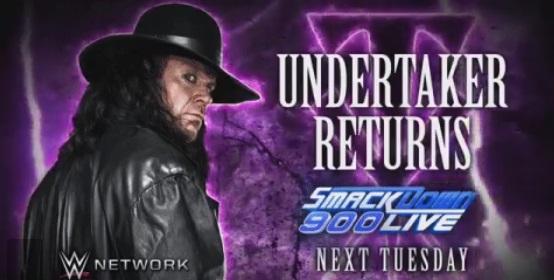 ¡En Enterrador volverá a la WWE en SmackDown Live 900!