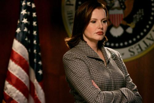 Geena Davis en Señora presidenta