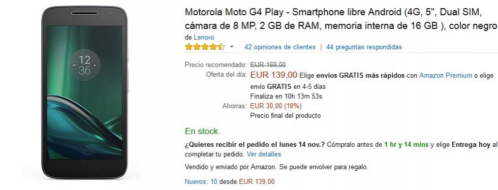 Black Friday Amazon - Motorola Moto G4 Play