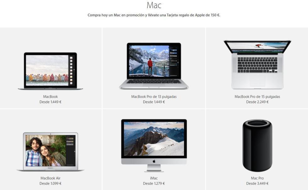 Ofertas en ordenadores Mac Pro, iMac y MacBook