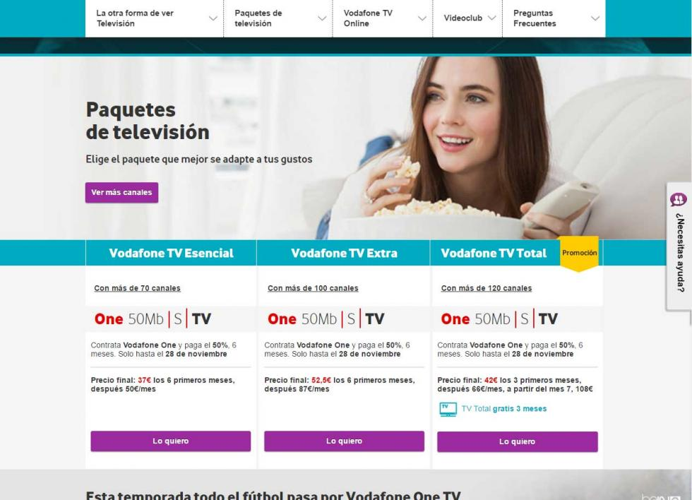 Orange, Movistar y Vodafone - Sus opciones para cine y series