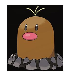 Pokémon Sol y Pokémon Luna - Diglett de Alola