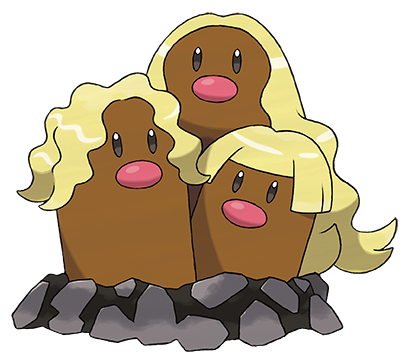 Pokémon Sol y Pokémon Luna - Dugtrio de Alola