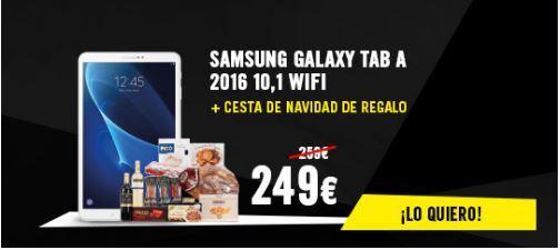Samsung Galaxy Tab A + Cesta de navidad de regalo